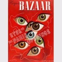 Revista bazaar hecas por Cassandre