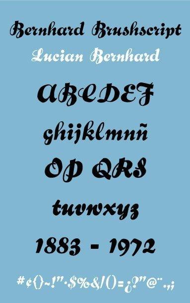 bernhard Brushscript