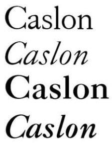 CASLON una tipografía legendaria